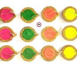 Earthen diwali diya candles for rangoli decoration set of 12