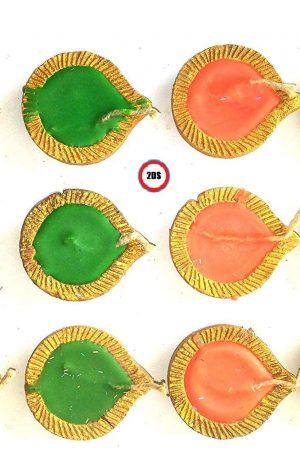 Earthen diwali diya candles for rangoli decoration set of 12