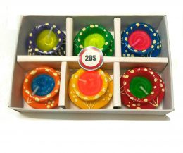 2DS® Colorful Earthen Matki Diya Candles for Diwali Decoration