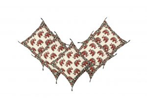 2DS Cotton printed Cushion Covers Red