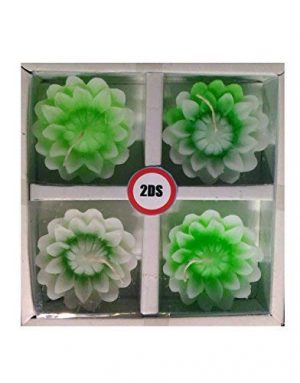2DS Lotus Floating candles Green
