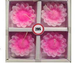 2DS Lotus floating candles pink