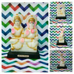 Marble Lakshmi Ganesha