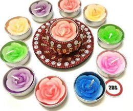 2DS Decorative T-light Candles with holder Red