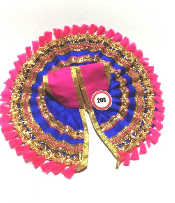 2ds Laddu Gopal Poshak Blue Laces