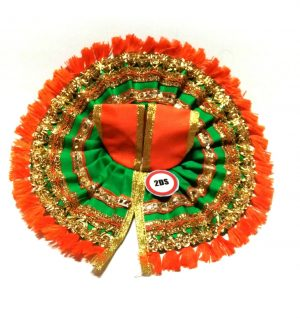 2ds Laddu Gopal Poshak Green Laces