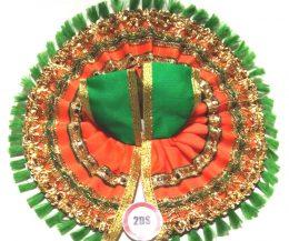 2ds Laddu Gopal Poshak Orange Laces
