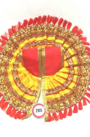 2ds Laddu Gopal Poshak Yellow Laces