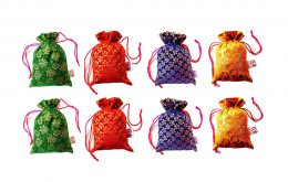 2DS Potli Bags for Woman for Gifting purpose   Gift Pouch/Jewellery Pouch   Shagun Potli   Return Gift Bags Mixed Assorted Colour