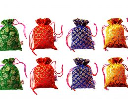 2DS Potli Bags for Woman for Gifting purpose | Gift Pouch/Jewellery Pouch | Shagun Potli | Return Gift Bags Mixed Assorted Colour